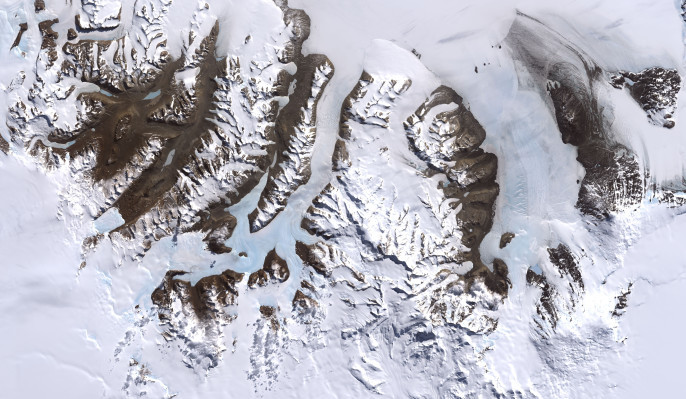 Satellite image of the McMurdo Dry Valleys (NASA)
