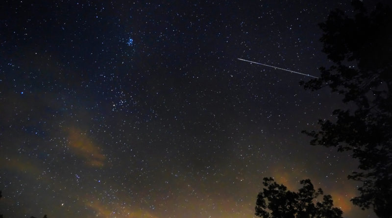 Two Perseid meteors from western NC (Emily Willoughby)