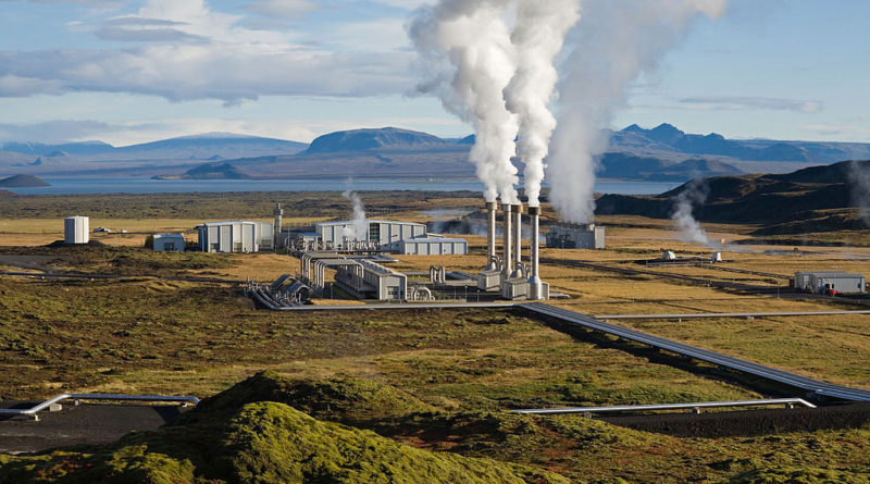 Carbon Capture: Photo of Nesjavellir Geothermal Power Station courtesy of Gretar Ivarsson via Wikipedia